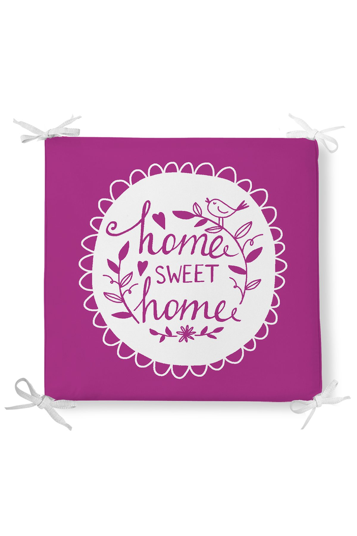 Home Sweet Home Dekorati Kare Sandalye Minderi 40x40cm ermuarlı Realhomes