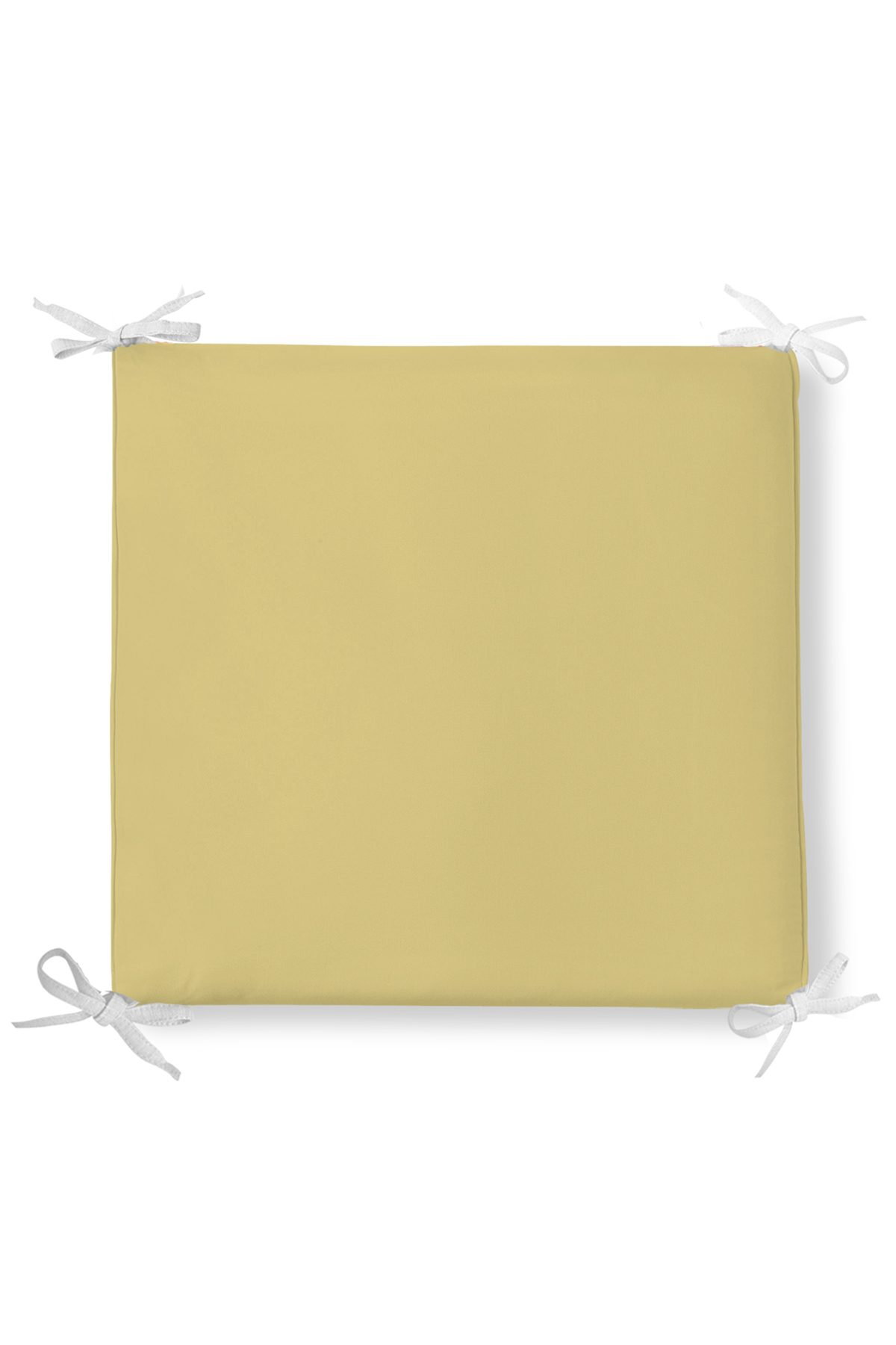 Hardal Renkli Dekorati Kare Sandalye Minderi 40x40cm ermuarlı Realhomes