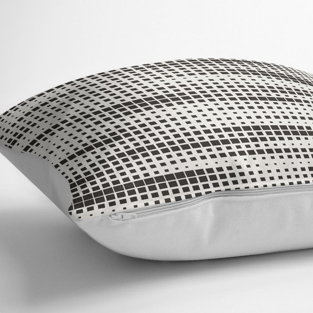 Modern Kareler Dijital Baskılı Dekoratif Kırlent Kılıfı Realhomes