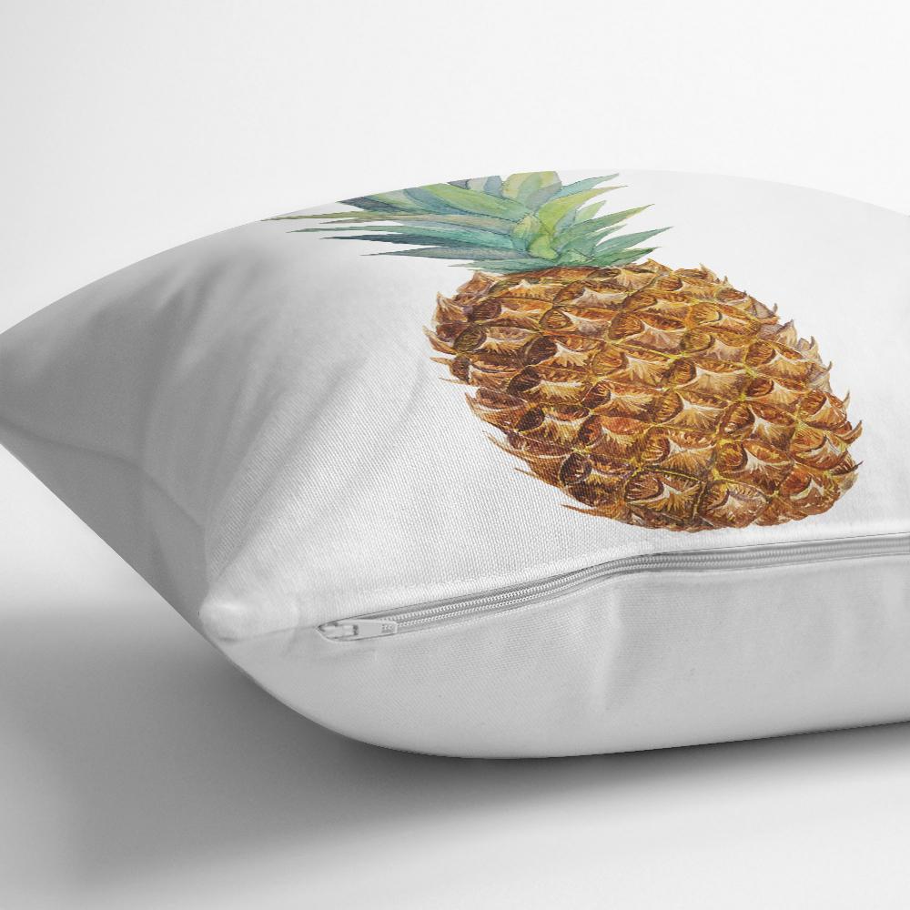 Ananas Desenli Dijital Baskılı Dekoratif Yastık Kırlent Kılıfı Realhomes