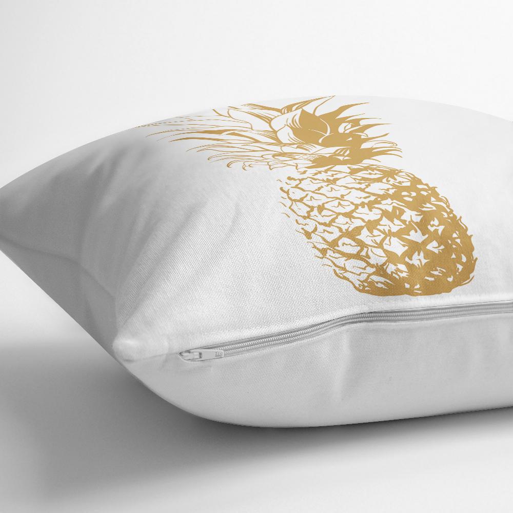 Altın Renk Kaktüs Baskılı Dijital Yastık Kırlent Kılıfı Realhomes