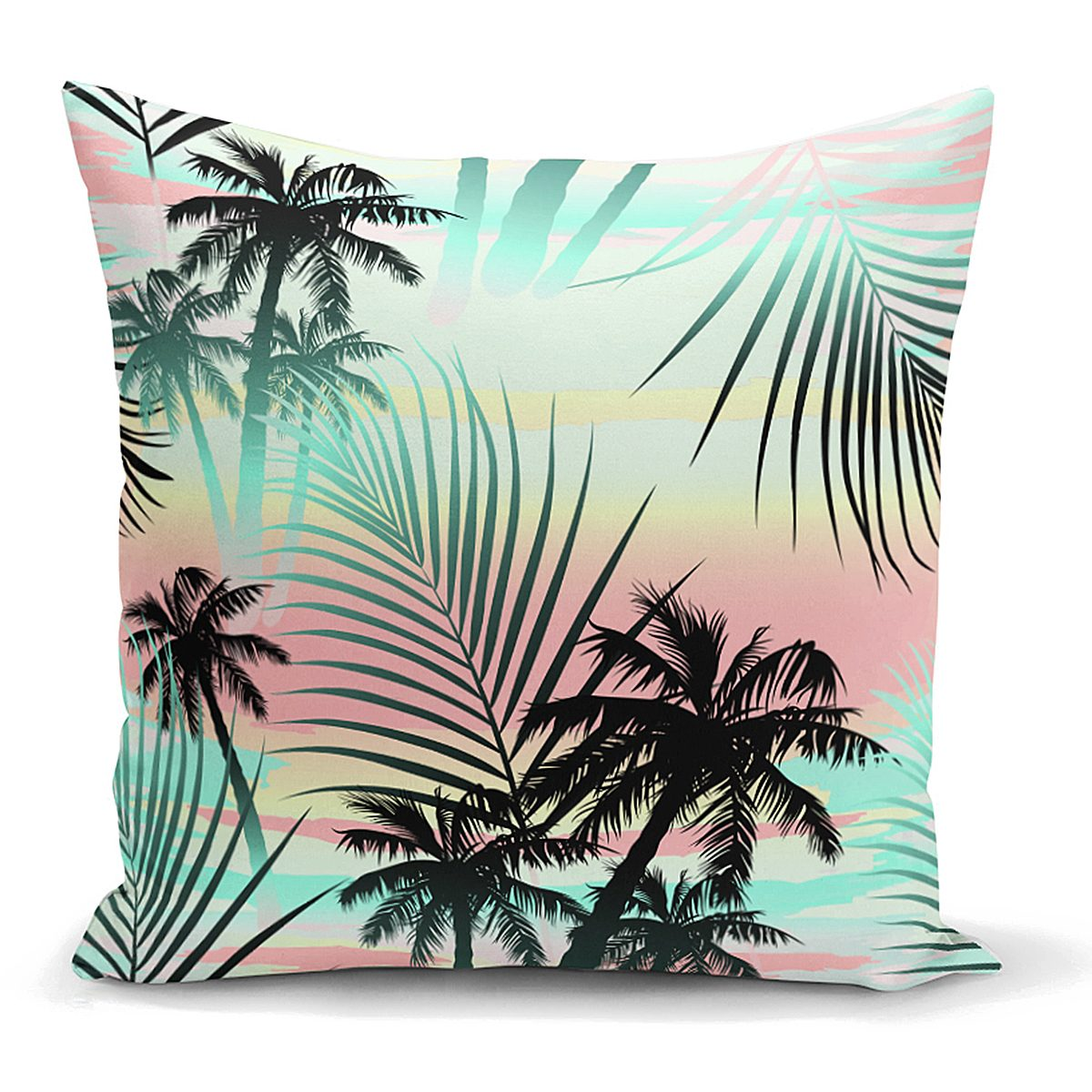 Livense Palmiye Yaprakları Özel Tasarım Yastık Kırlent Kılıfı Realhomes