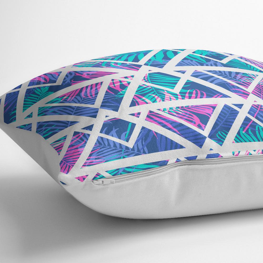 Palmiye Zigzag Desen Dijital Baskılı Yastık Kırlent Kılıfı Realhomes