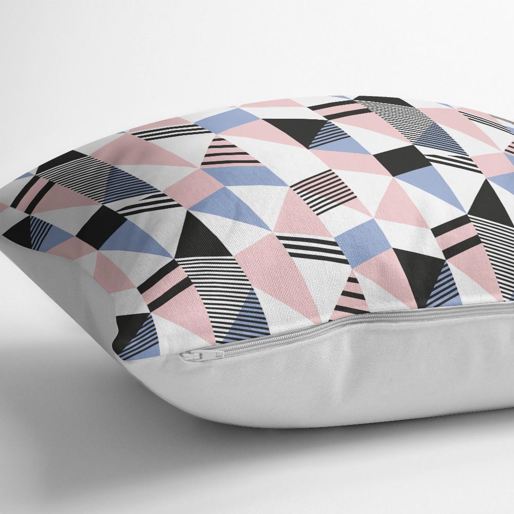 Modern Geometrik Desenli Dijital Baskılı Yastık Kırlent Kılıfı Realhomes