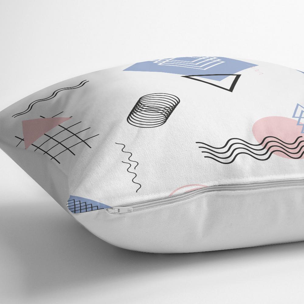 Renkli Geometrik Şekiller Dijital Baskılı Yastık Kırlent Kılıfı Realhomes