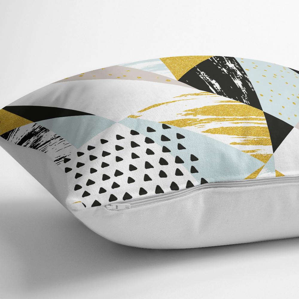 Livense Modern Geometrik Şekiller Dijital Yastık Kırlent Kılıfı Realhomes