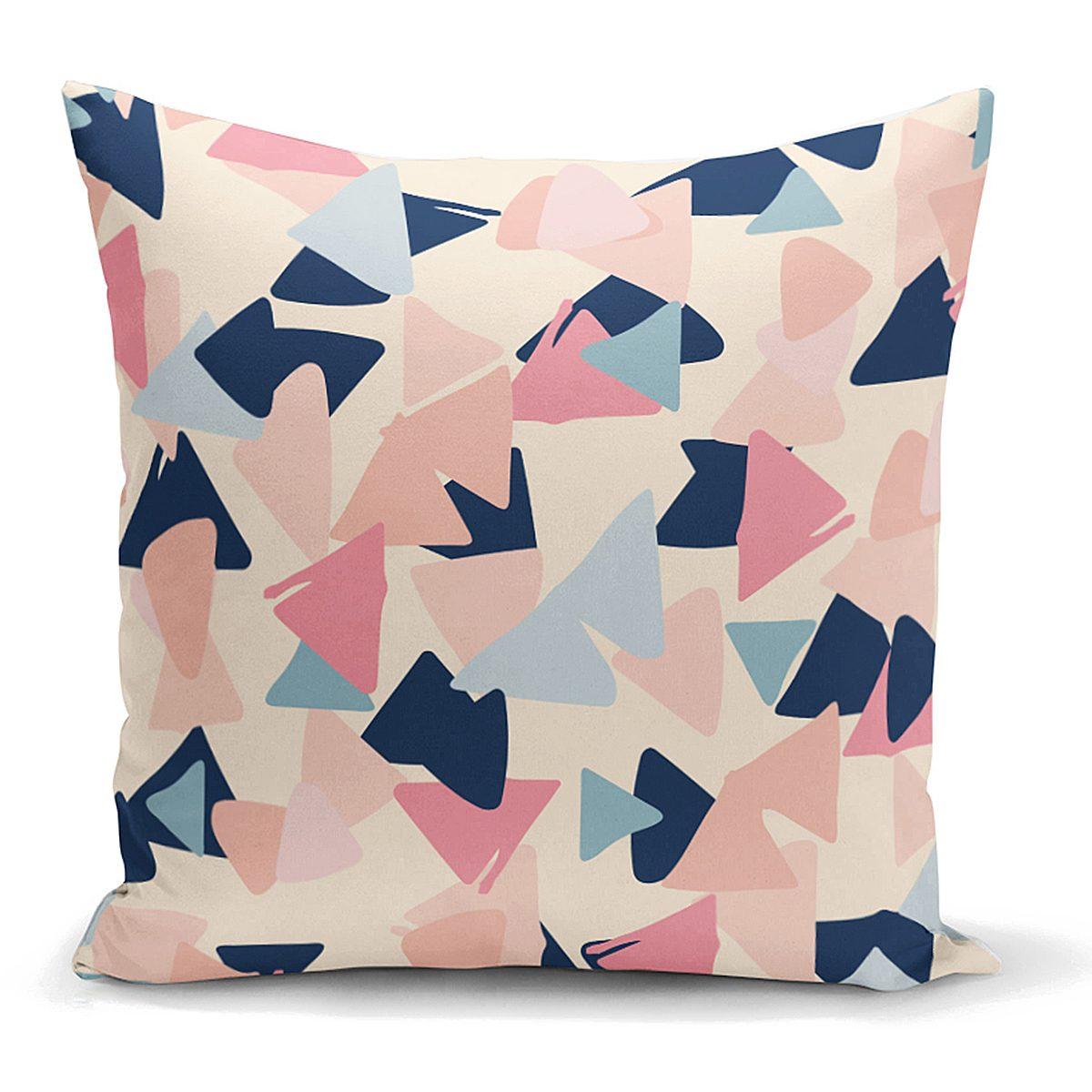 Renkli Geometrik Desenli Modern Yastık Kırlent Kılıfı Realhomes