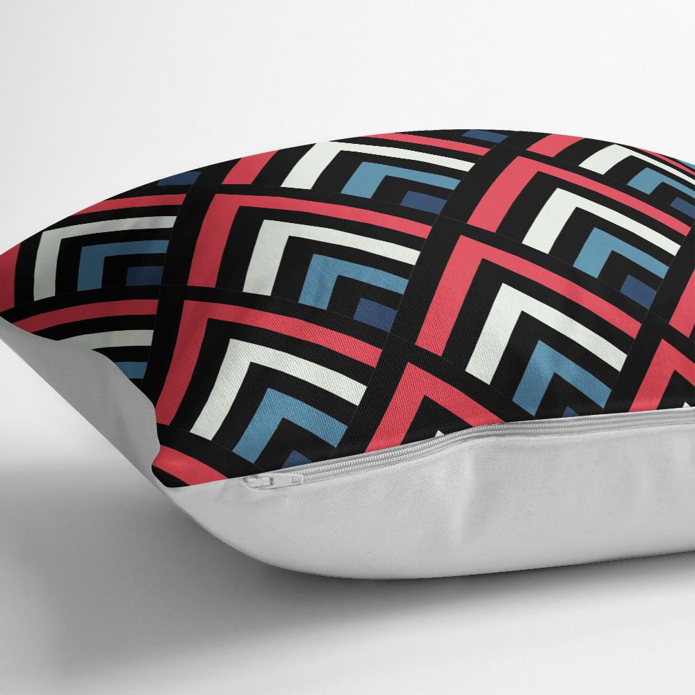 Baklava Desenli Renkli Modern Yastık Kırlent Kılıfı Realhomes