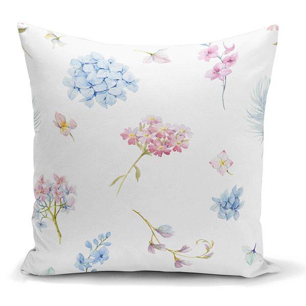 Livense Özel Tasarım Çiçek Desenli Modern Yastık Kırlent Kılıfı Realhomes