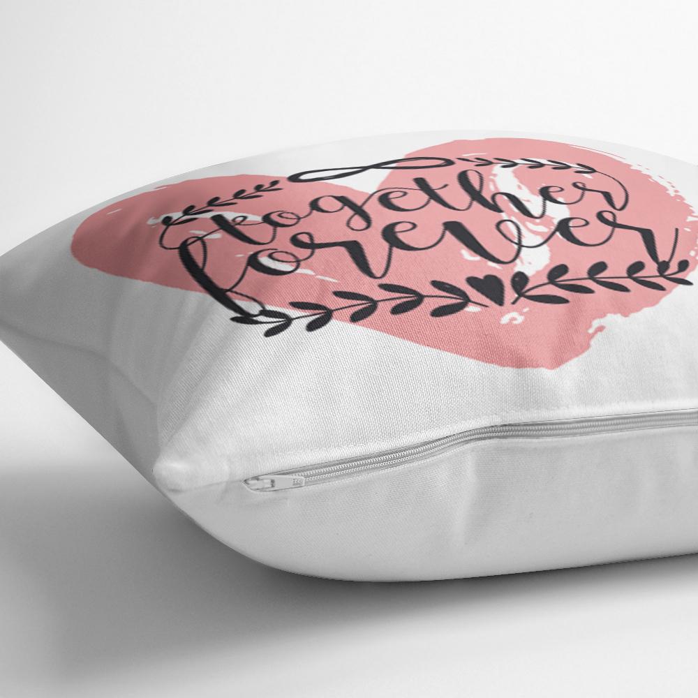Özel Tasarım Kalp Ve Yazılı Dijital Baskılı Modern Yastık Kılıfı Realhomes