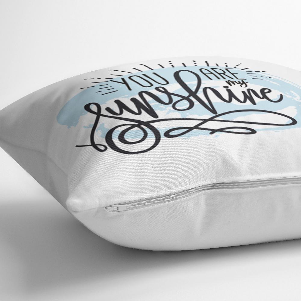 You Are My Sunshıne Yazı Desenli Dijital Baskılı Modern Kırlent Kılıfı Realhomes