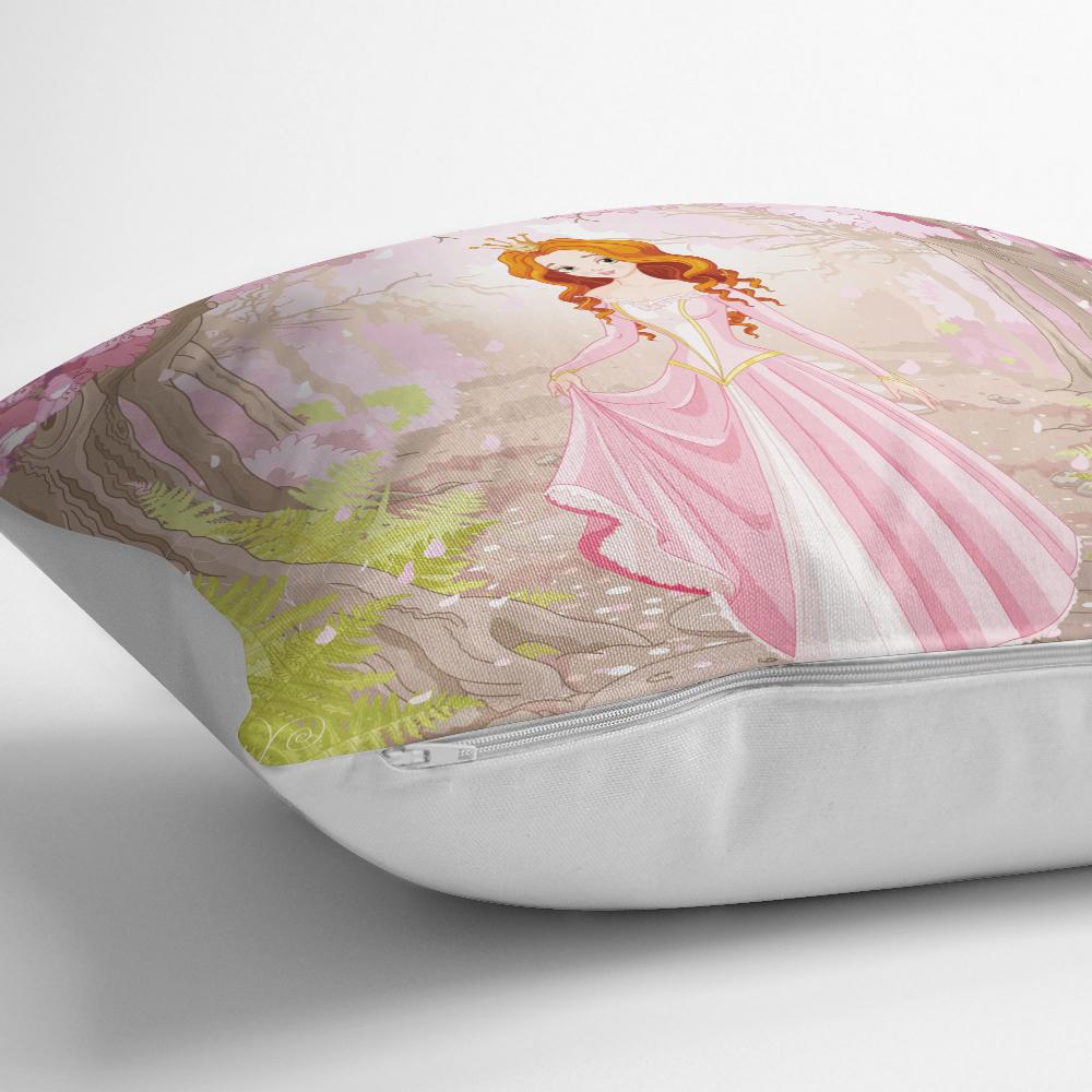 Prenses Gırl Deenli Dijital Baskılı Dekoratif Yatık Kılıfı Realhomes