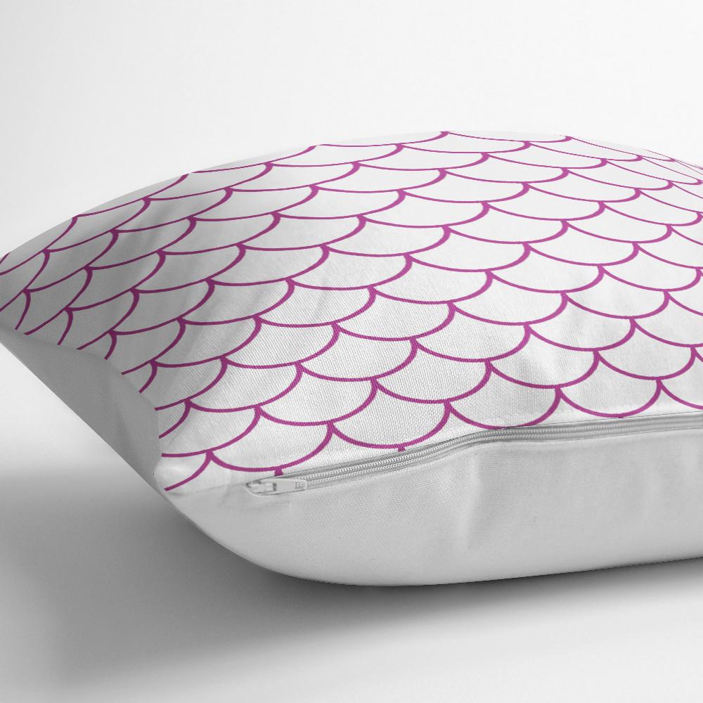Mor Geometrik Desenli Dijital Baskılı Dekoratif Yastık Kılıfı Realhomes