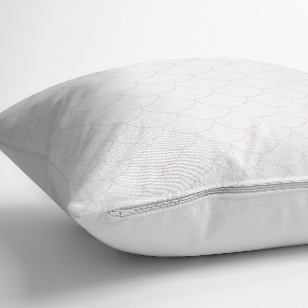 Pembe Geometrik Desenli Dijital Baskılı Dekoratif Yastık Kılıfı Realhomes