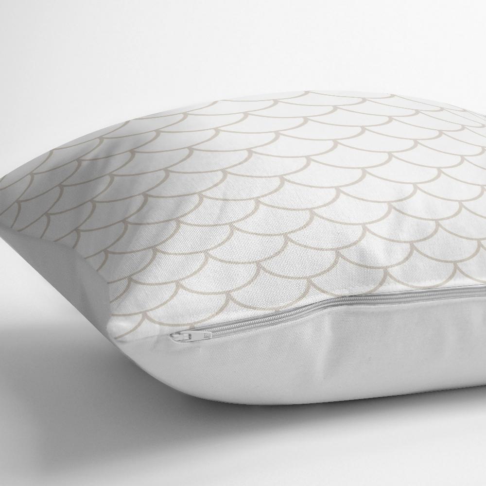 Özel Tasarım Geometrik Desenli Dijital Baskılı Kırlent Kılıfı Realhomes