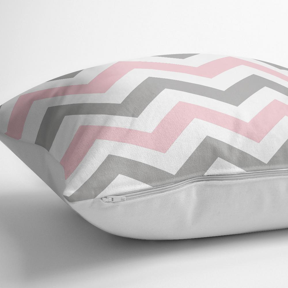 Modern Renkli Zigzag Desenli Dijştal Baskılı Yastık Kılıfı Realhomes
