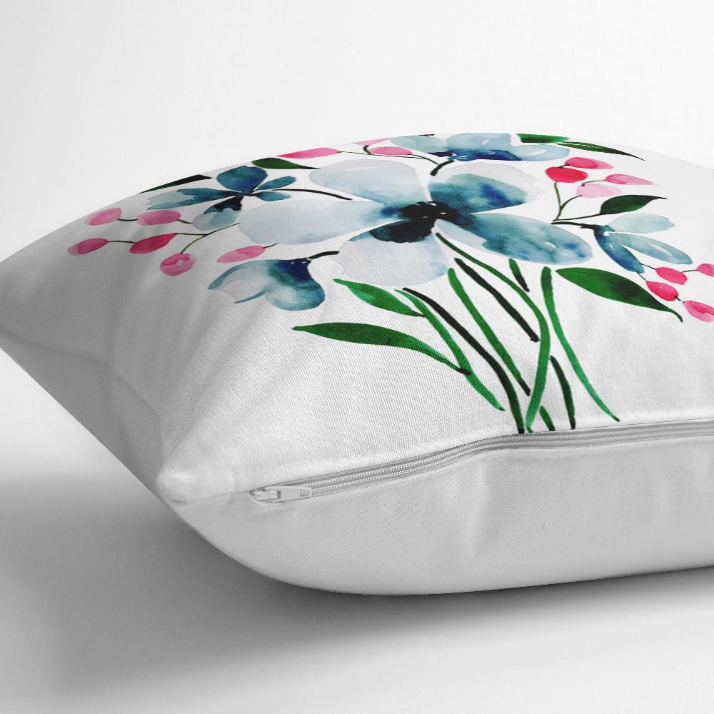 Modern Çiçek Desenli Dijital Baskılı Dekoratif Yastık Kılıfı Realhomes