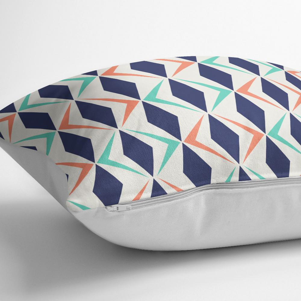 Renkli Geometrik Desenli Dijital Baskılı Modern Yastık Kılıfı Realhomes