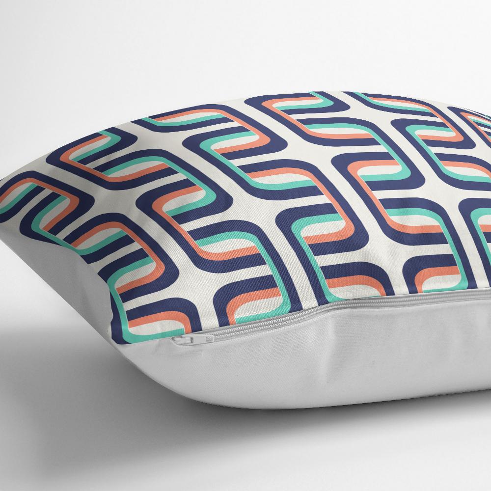Renkli Geometrik Motifli Dijital Baskılı Dekoratif Kırlent Kılıfı Realhomes