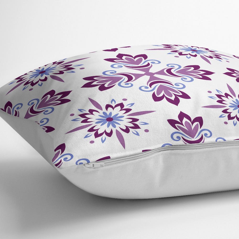 Renkli Çiçek Desenli Dijital Baskılı Dekoratif Yastık Kılıfı Realhomes