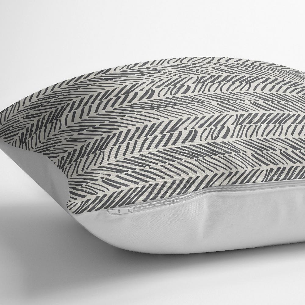 Modern Siyah Beyaz Desenli Dijital Baskılı Kırlent Kılıfı Realhomes