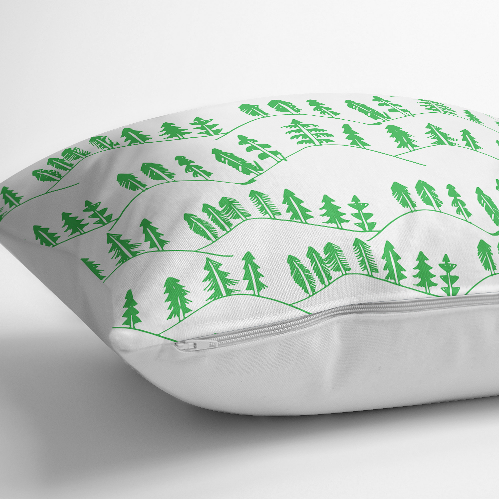 Modern Ağaç Temalı Dijital Baskılı Dekoratif Kırlent Kılıfı Realhomes