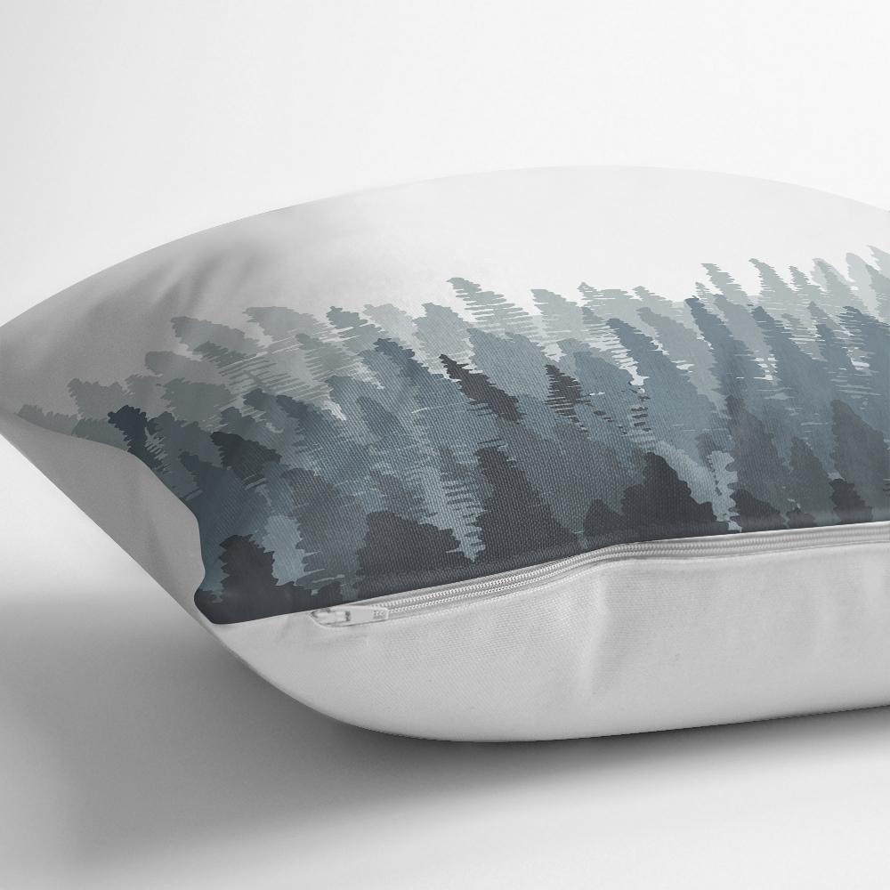 Orman Temalı Dijital Baskılı Modern Kırlent Yastık Kılıfı Realhomes