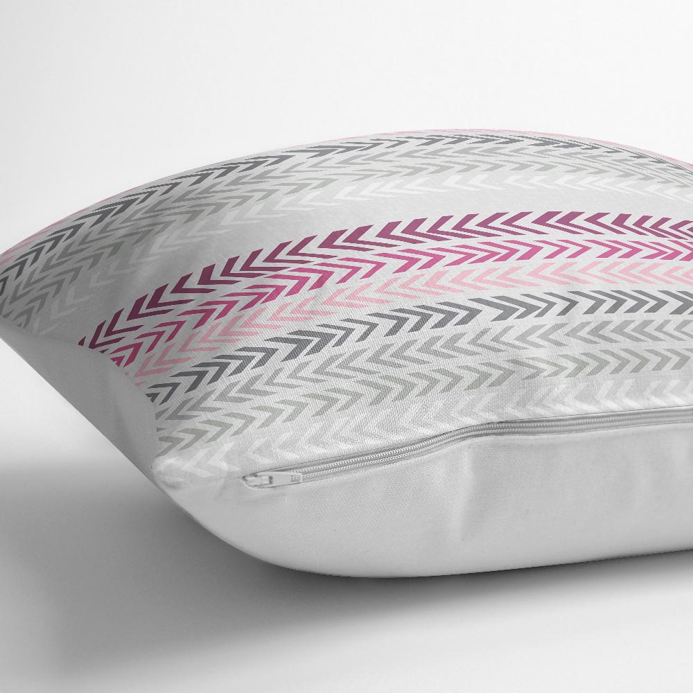 Renkli Zigzag Motifli Dijital Baskılı Kırlent Yastık Kılıfı Realhomes