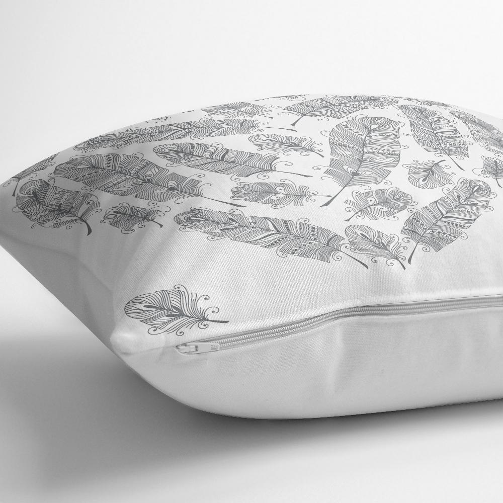 Tüy Desen Kalp Motifli Dijital Baskılı Dekoratif Kırlent Kılıfı Realhomes