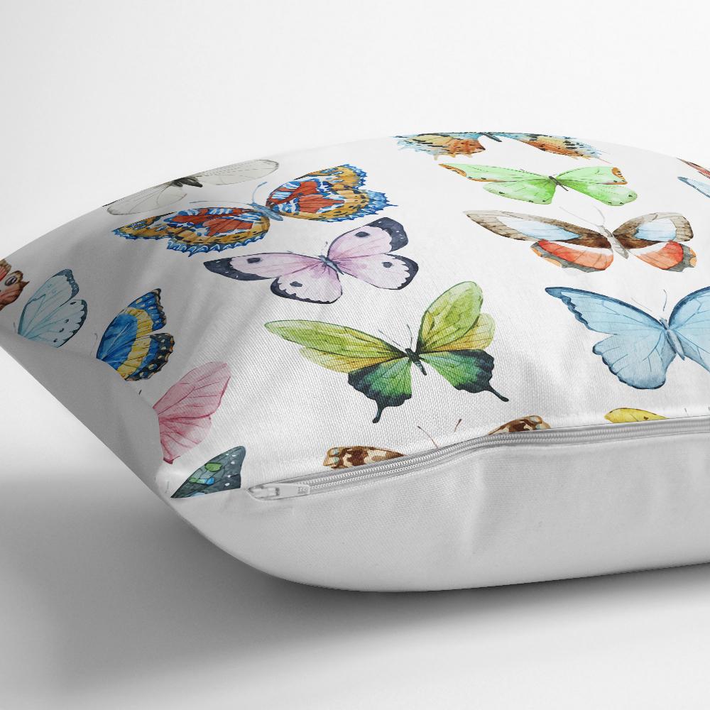 Renkli Kelebek Resimli Dijital Baskılı Modern Yastık Kılıfı Realhomes
