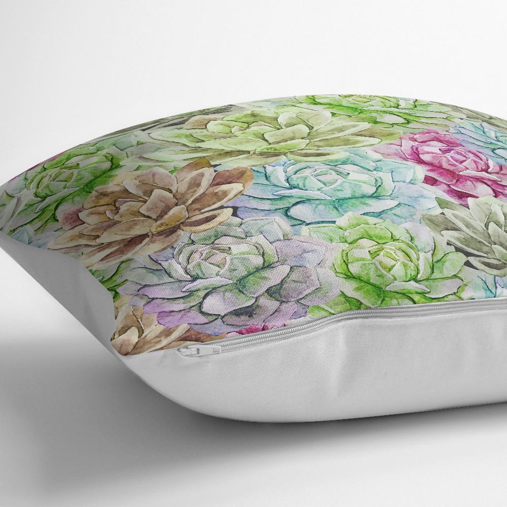 Zambak Temalı Dijital Baskılı Dekoratif Kırlent Kılıfı Realhomes
