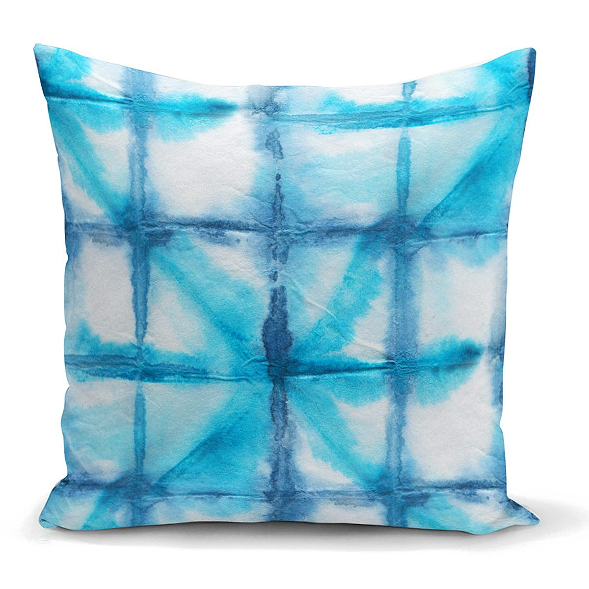 Mavi Sulu Boya Desenli Dijital Baskılı Modern Yastık Kılıfı Realhomes