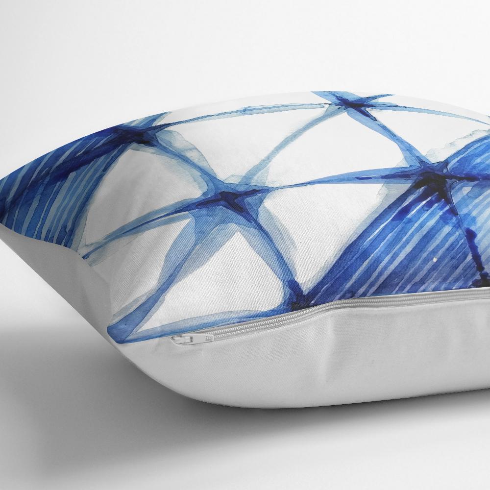 Geometrik Sulu Boyalı Dijital Baskılı Dekoratif Yastık Kılıfı Realhomes