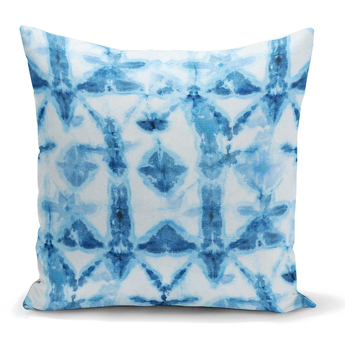 Mavi Kar Tanesi Desenli Dijital Baskılı Dekoratif Yastık Kılıfı Realhomes