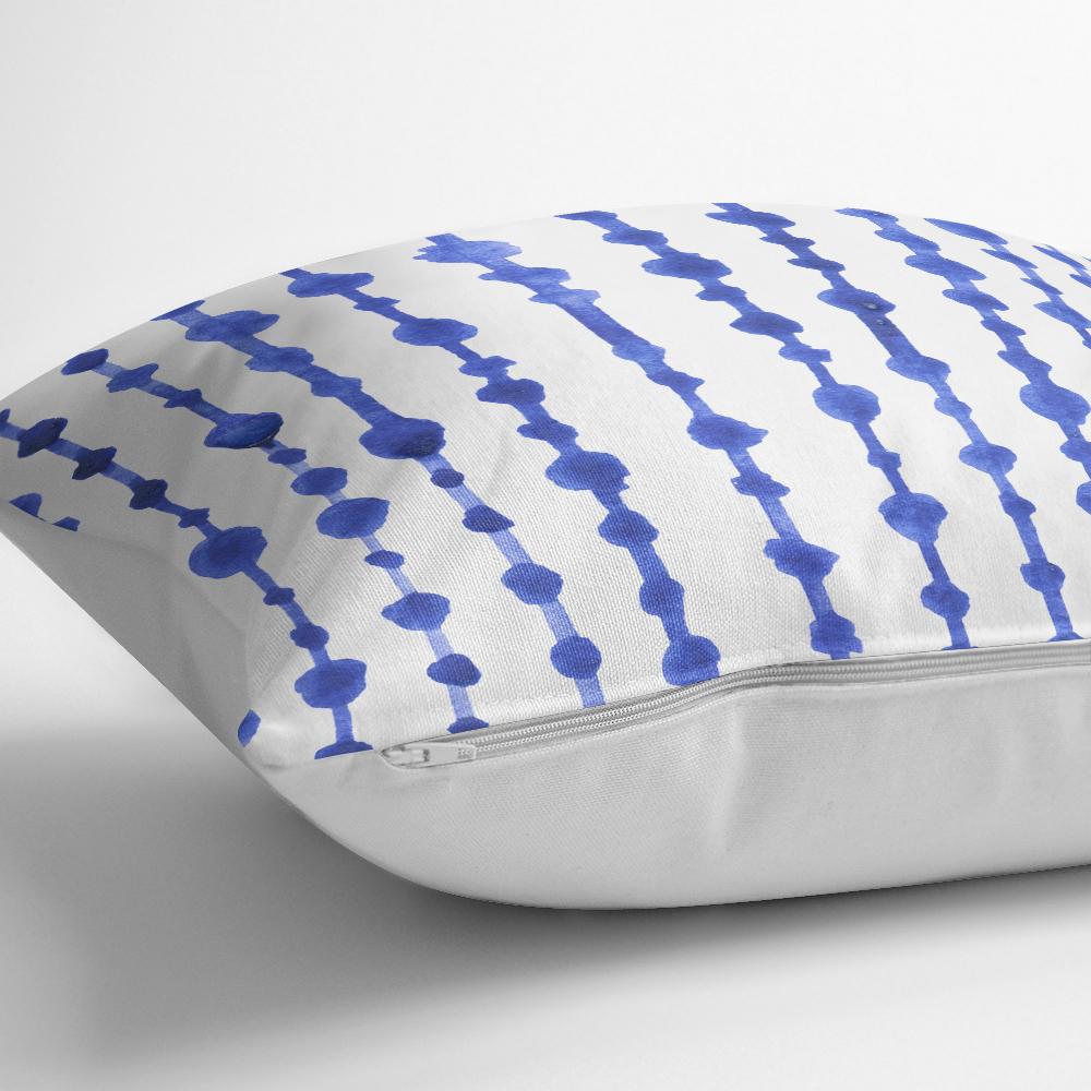 Mavi Çizgili Desenli Dijital Baskılı Modern Kırlent Kılıfı Realhomes