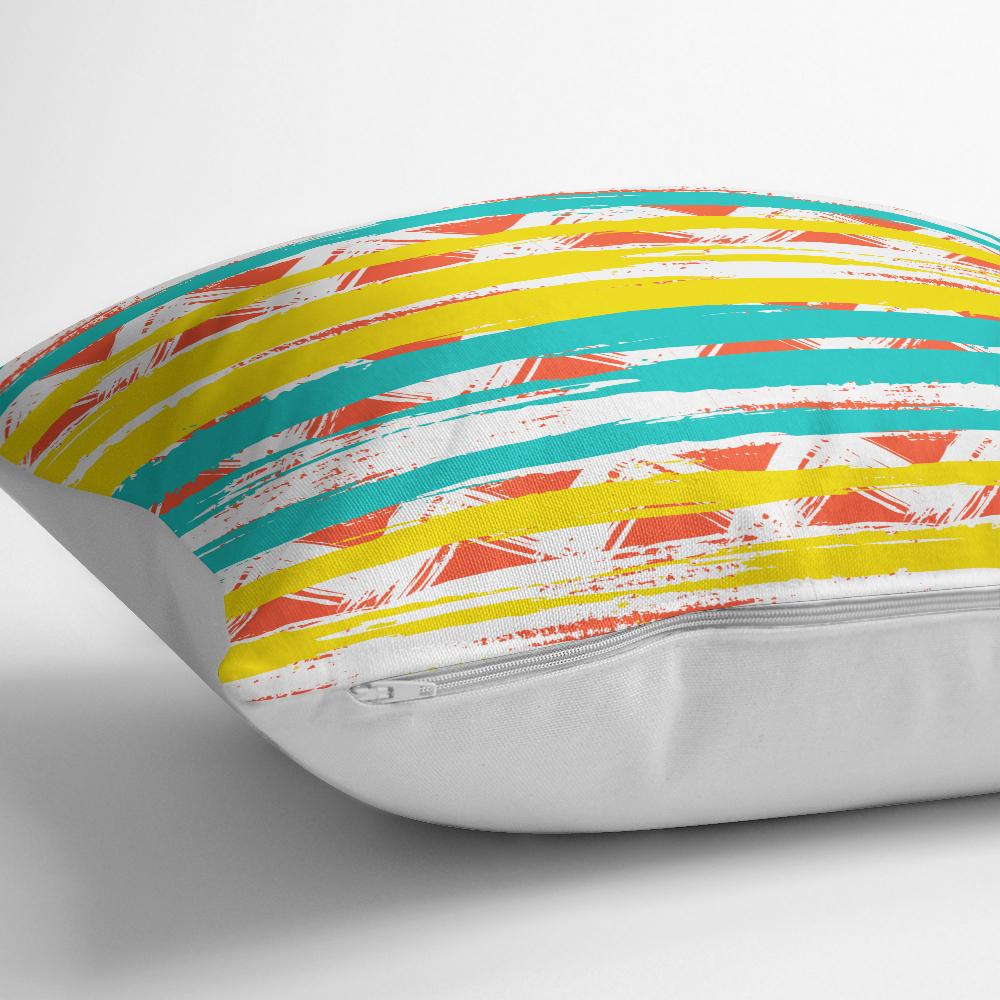 Renkli Geometrik Desenler Temalı Dekoratif Yastık Kırlent Kılıfı Realhomes