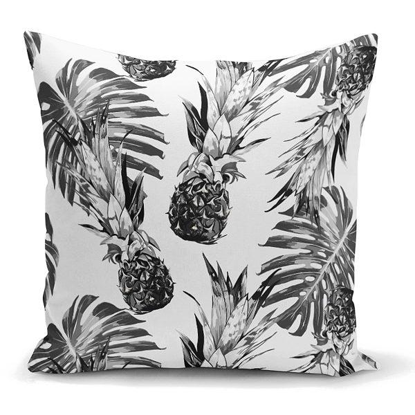 Ananas ve Palmiye Yaprakları Dekoratif Yastık Kırlent Kılıfı Realhomes