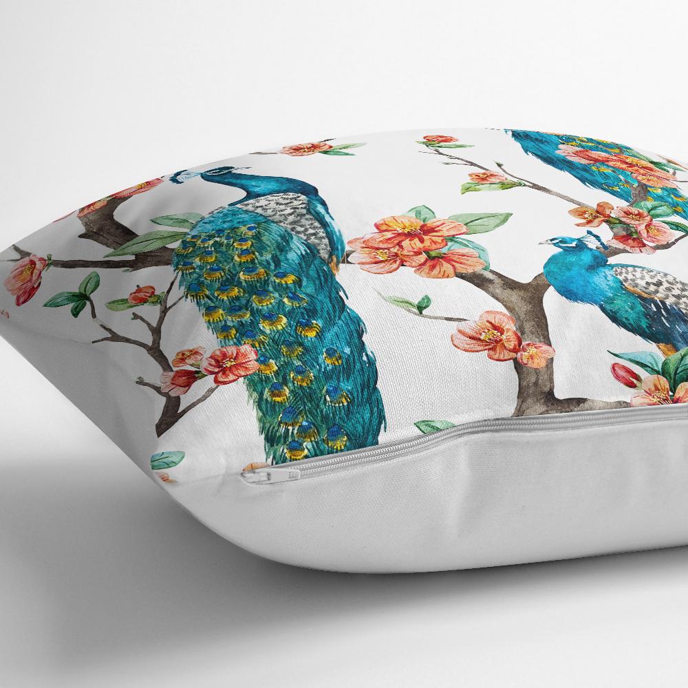 Tavuz Kuşu Baskılı Dijital Yastık Kırlent Kılıfı Realhomes