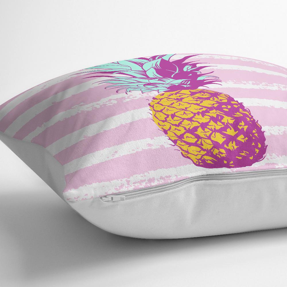 Canlı Renkli Ananas Motifli Dijital Baskılı Yastık Kırlent Kılıfı Realhomes