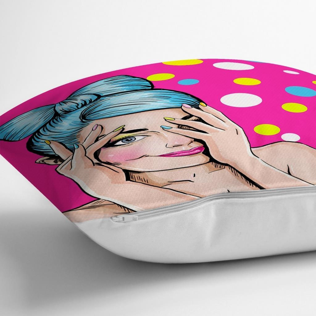 Pop Art Dijital Baskılı Dekoratif Yastık Kırlent Kılıfı Realhomes