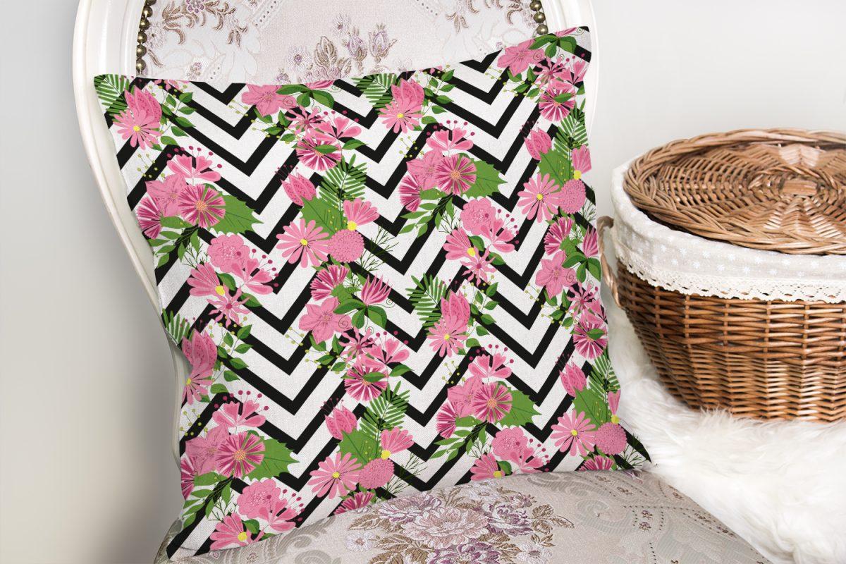 Zigzag Zebra Desenli Ogea Desenli Dekoratif Yastık Kılıfı Realhomes
