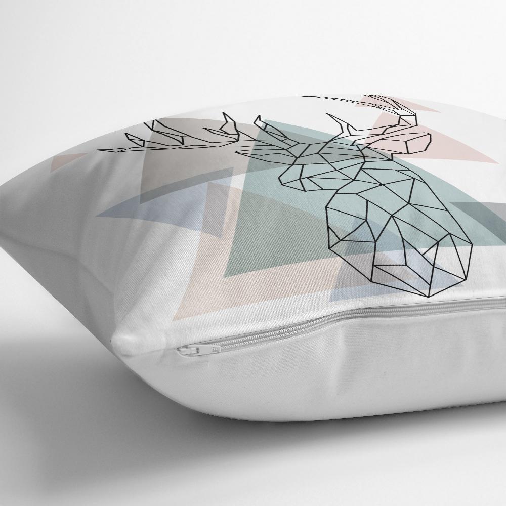 Geyik Çizimli Modern Dijital Baskılı Yastık Kılıfı Realhomes