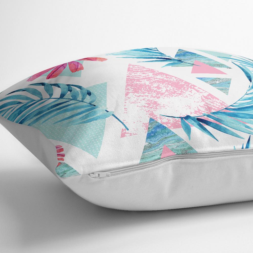 Palmiye Desenli Geometrik Şekiller Dekoratif Yastık Kılıfı Realhomes