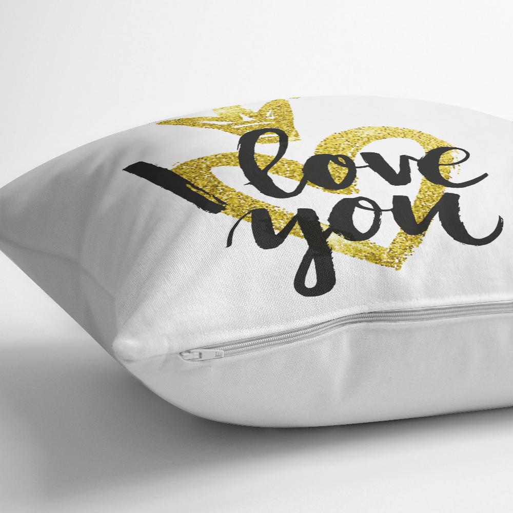 I Love You Motifli Dijital Baskılı Yastık Kırlent Kılıfı Realhomes
