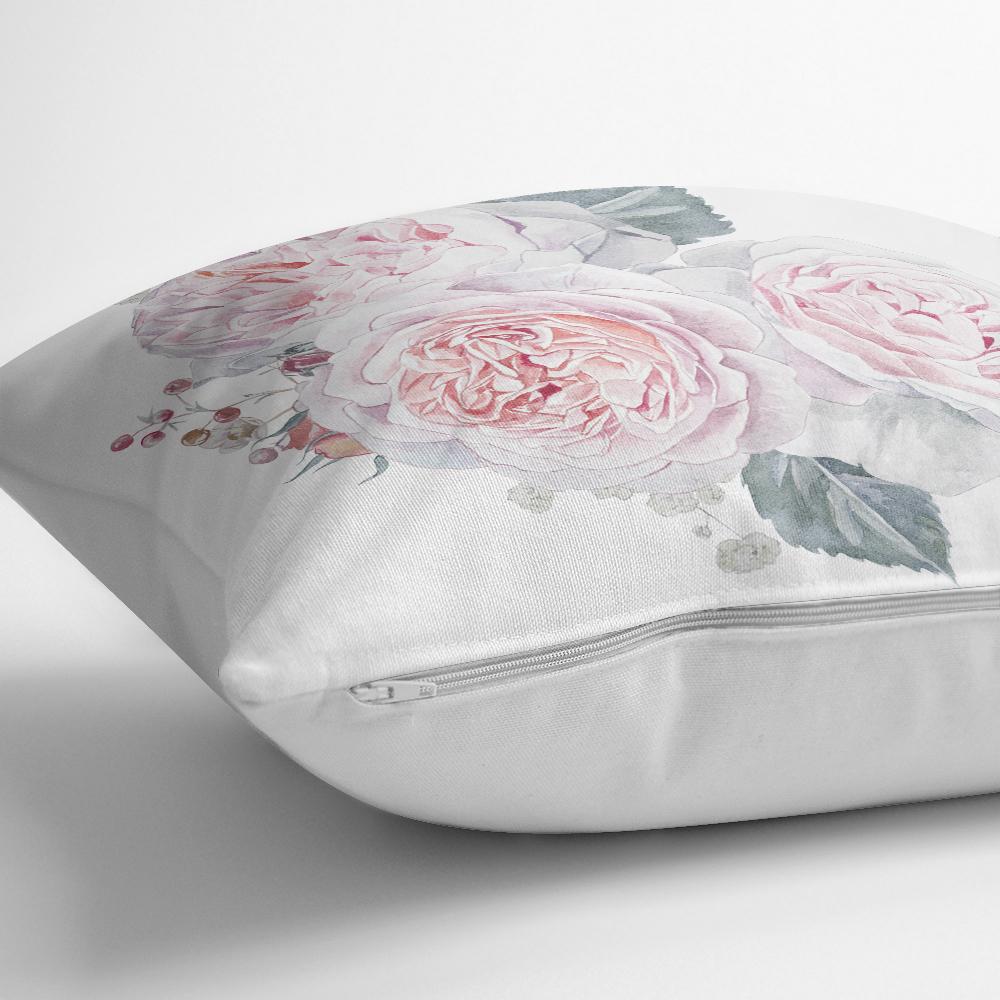 Soluk Çiçek Motifli Modern Baskılı Kırlent Kılıfı Realhomes