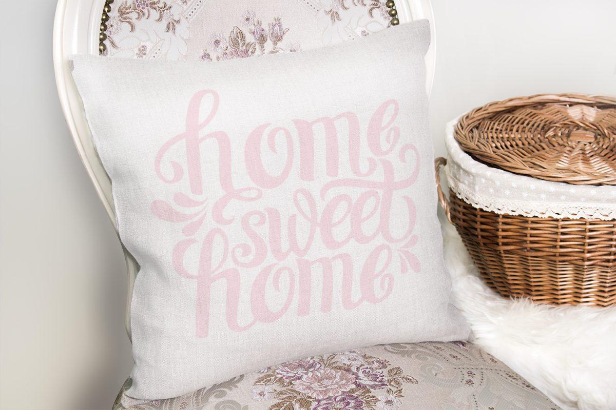 Pudra Home Sweet Home Dijital Baskılı Kırlent Kılıfı Realhomes