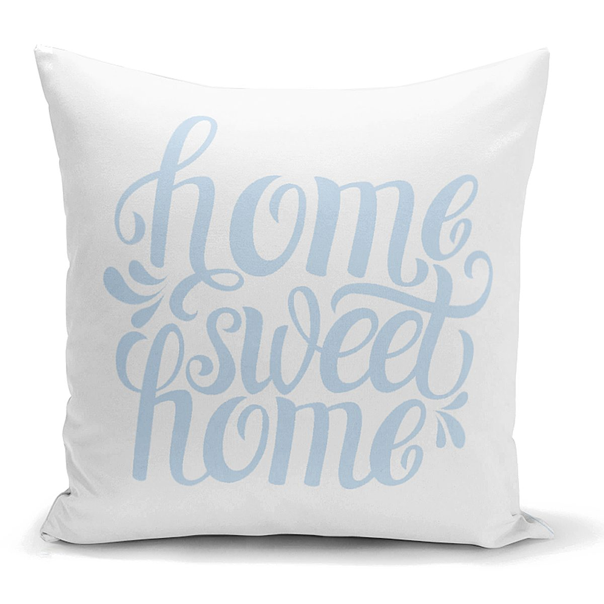 Mavi Home Sweet Home Modern Yastık Kırlent Kılıfı Realhomes