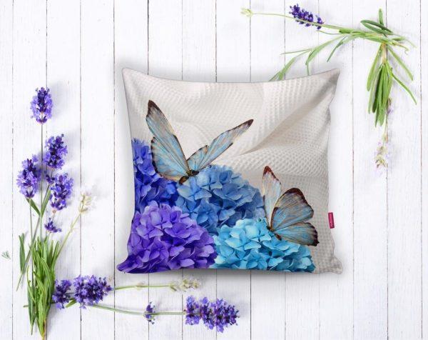 Kelebek Dünyası Dijital Baskılı Dekoratif Yastık Kırlent Kılıfı Realhomes