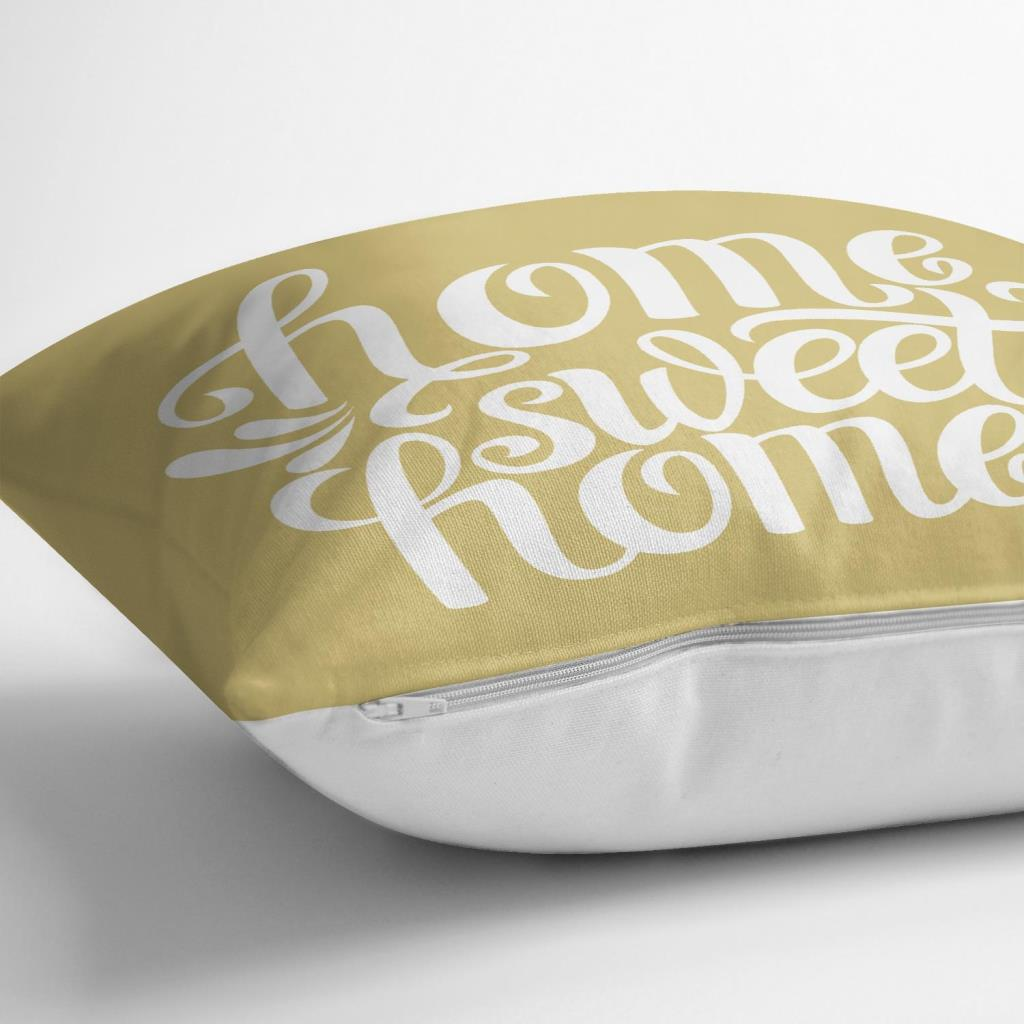Home Sweet Home Dijital Baskılı Dekoratif Yastık Kırlent K Realhomes