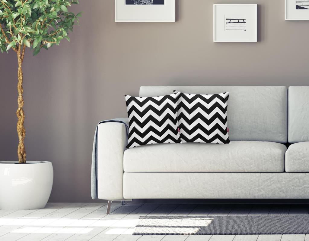 Modern Zigzag Desenli Dijital Baskılı Dekoratif Yastık Kırlent Kı Realhomes